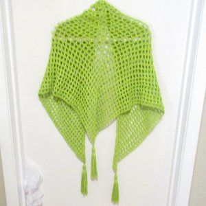 InfiniteElaine Accessories - NEW Cotton Handmade Bright Green Shawl Wrap NWT
